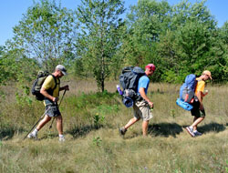 Backpackers on North Manitou Island.