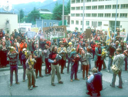 A 1981 demonstration against James Watt in Juneau, Alaska