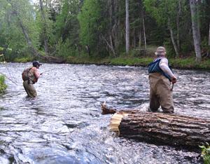 Angler with a sockeye