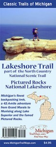The new Lakeshore Trail map from MichiganTrailMaps.com