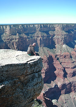 Living on the edge of the Grand Canyon.