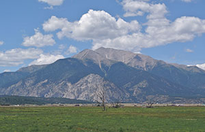 Mt. Princeton, one of Colorado's 58 fourteeners, peaks more than 14,000 feet high.