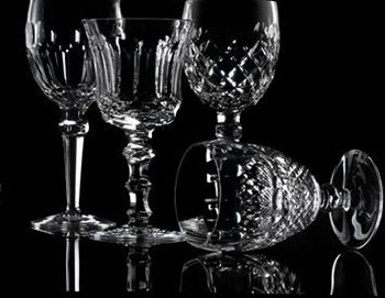Waterford Crystal glassware, the finest crystal in the world.