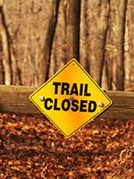 Hiking-Trail-Closed-Sign