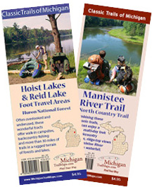 The new Manistee River Trail and Hoist Lake Foot Travel Area maps from MichiganTrailMaps.com
